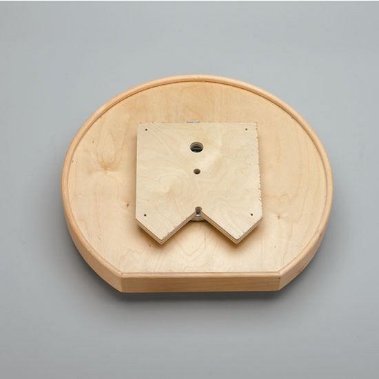 20 Or 32 Diameter Natural Wood D Shape Tall Rim Tray W