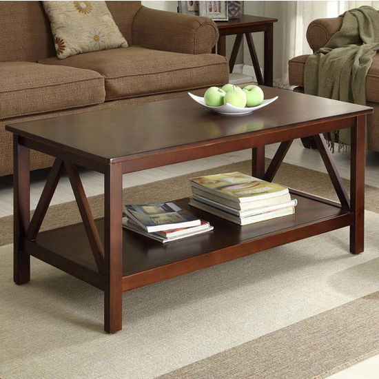 Linon Titian Coffee Table, Antique Tobacco