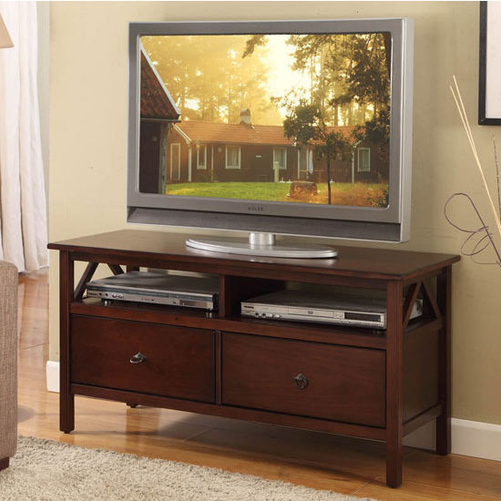 Linon Titian TV Stand, Antique Tobacco