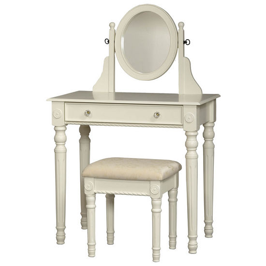 Linon Lorraine Vanity Set, White