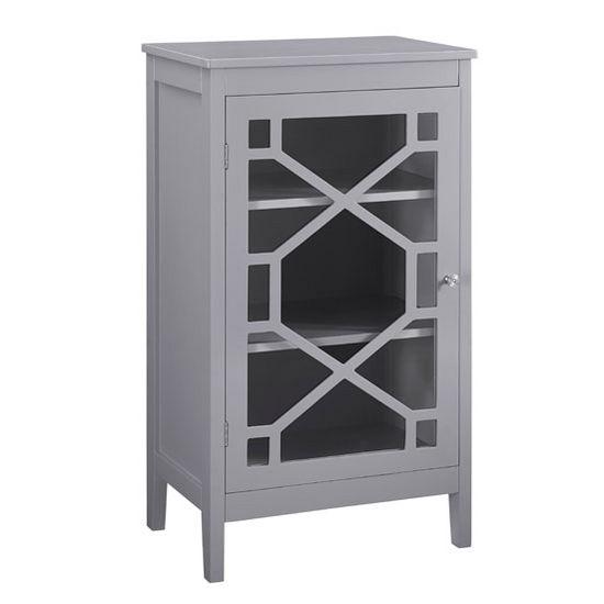 Linon Fetti Small Cabinet In Gray, ...