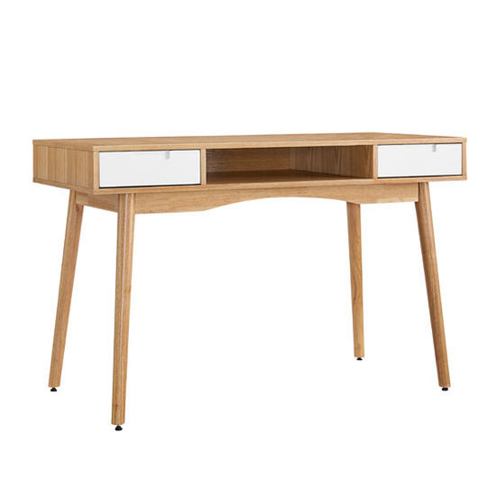 "Linon Perry Desk in Natural, White, 47-1/4"" W x 21-3/4"" D x 30"" H"