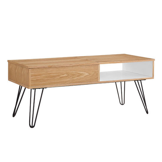 650246ash01u perry coffee table in natural white orange for Coffee tables 50cm wide