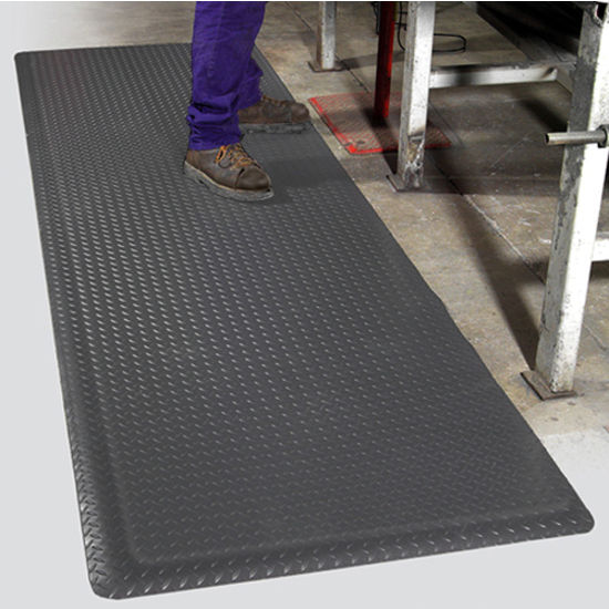 Supreme diamond foot anti fatigue floor mat by mat pro commercial industrial matting in - Professional kitchen floor mats ...
