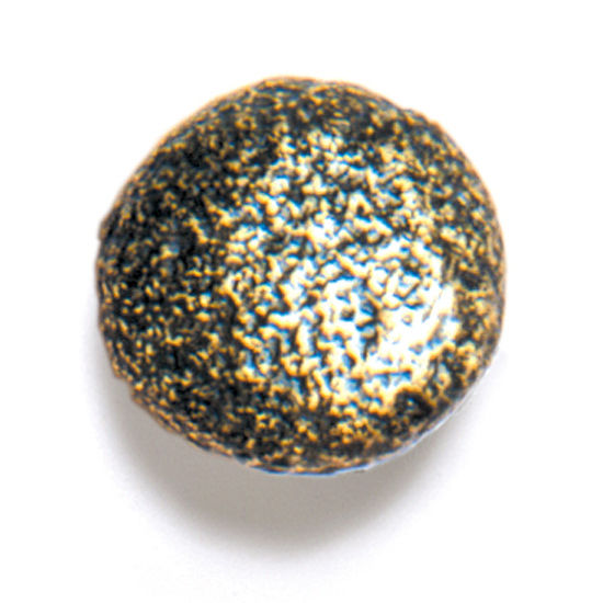 Modern Objects Bark, Leaves & Rocks Collection 1-1/8'' Diameter Rock 6 Round Knob in Antique Brass, 1-1/8'' Diameter x 1'' D x 1'' H