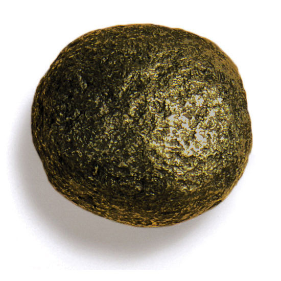 Modern Objects Bark, Leaves & Rocks Collection 2'' Diameter Rock 9 Round Knob in Antique Brass, 2'' Diameter x 2'' D x 2'' H
