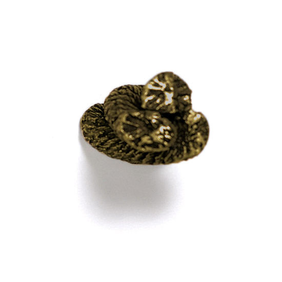 Modern Objects Blocks & Ropes Collection 1'' W Rope Knob in Antique Brass, 1'' W x 1-1/4'' D x 1-1/4'' H