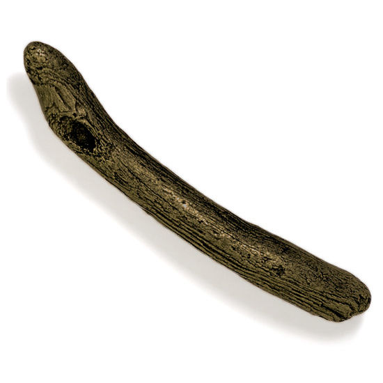 Modern Objects Bamboo & Stone Collection 8'' W Driftwood Pull in Antique Brass, 8'' W x 1-1/2'' D x 1-1/2'' H