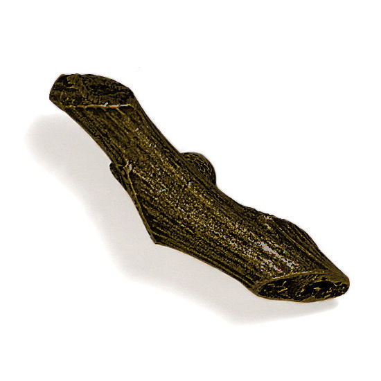 Modern Objects Branch & Vine Collection 3-1/4'' W Sumac Knob in Antique Brass, 3-1/4'' W x 1'' D x 1'' H