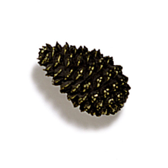 Modern Objects Pinecones & Jasmine Collection 1-1/2'' W Mini Pinecone Knob in Antique Brass, 1-1/2'' W x 1'' D x 1'' H