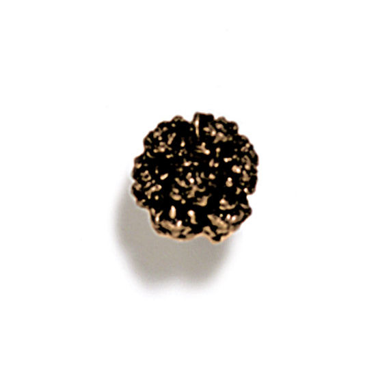 Modern Objects Pinecones & Jasmine Collection 3/4'' Diameter Vibernum Round Knob in Antique Brass, 3/4'' Diameter x 3/4'' D x 3/4'' H