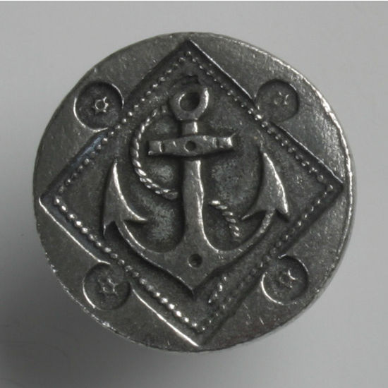 Modern Objects Blocks & Ropes Collection 1'' Diameter Round Anchor Knob in Antique Pewter, 1'' Diameter x 3/4'' D x 3/4'' H