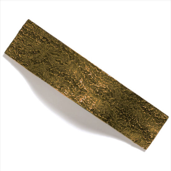 Modern Objects Bark, Leaves & Rocks Collection 5-1/8'' W Bark Pull in Antique Brass, 5-1/8'' W x 1-3/8'' D x 1-3/8'' H
