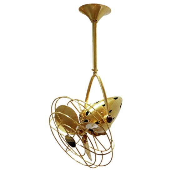 Brushed Brass with Metal Blades & Decorative Cages