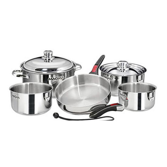 10 Piece Stainless Steel Gourmet Cookware