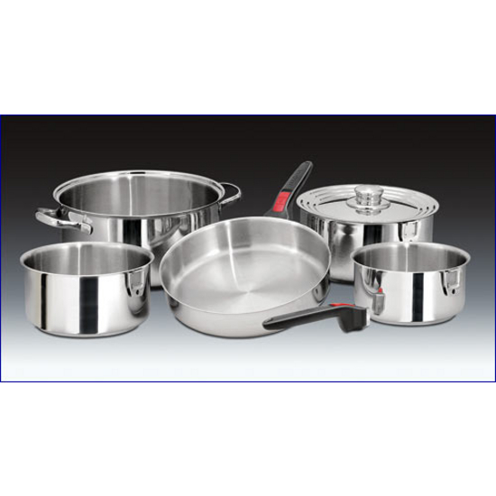 10 Piece Stainless Steel Gourmet Cookware