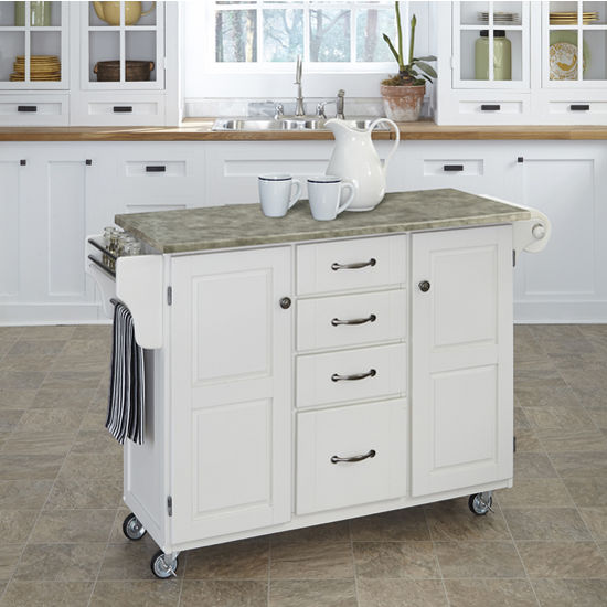 9100 Series Mix And Match 48 39 39 Wide Create A Cart With Gray Concrete Top In Multiple Base
