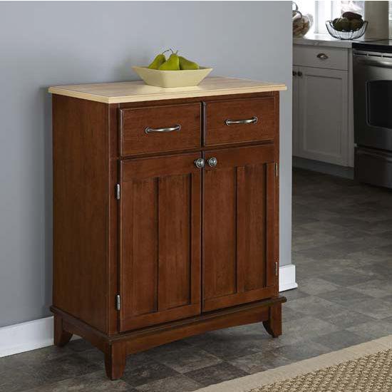 Home Styles Mix and Match Kitchen Buffet Cart