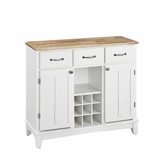 White Kitchen Buffet: Buffet Servers With Off-White Finish And