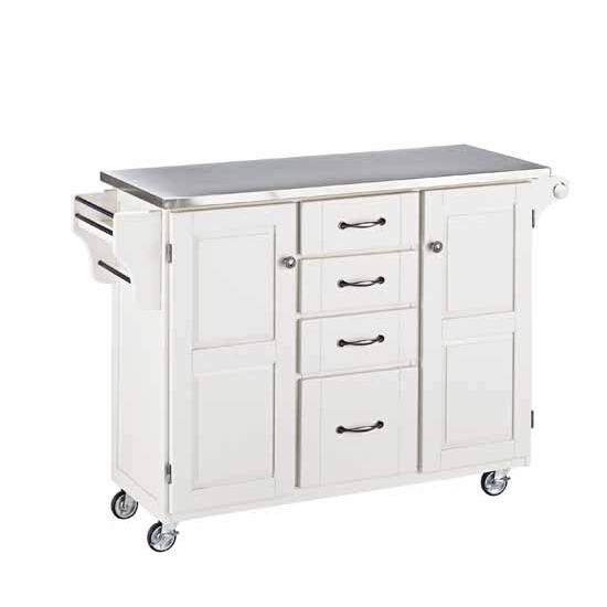 Cocina Kitchen Cart With Stainless Steel Top: Mix And Match White Kitchen Cart Cabinet W