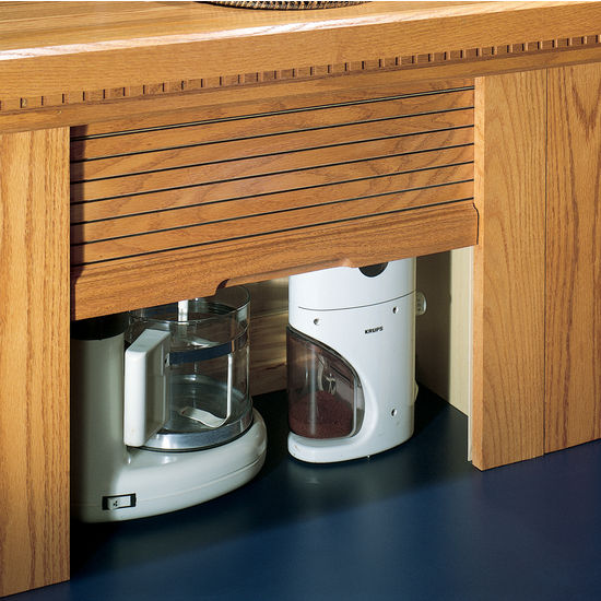 Omega National Straight Wood Tambour Garage for Kitchen Appliances