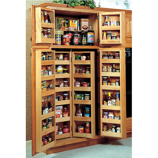 Kitchen Cabinet Organizers Pantry Storage: Chef's Double Pantry System By Omega National