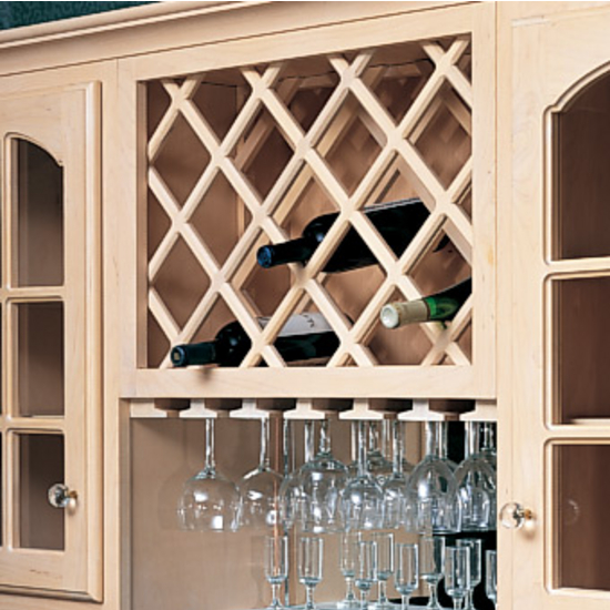 Omega National Cabinet Mount Wine Bottle Lattices Deluxe