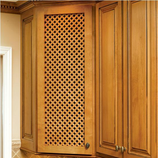 Door Inserts Solid Wood Diagonal Lattice Cabinet Door