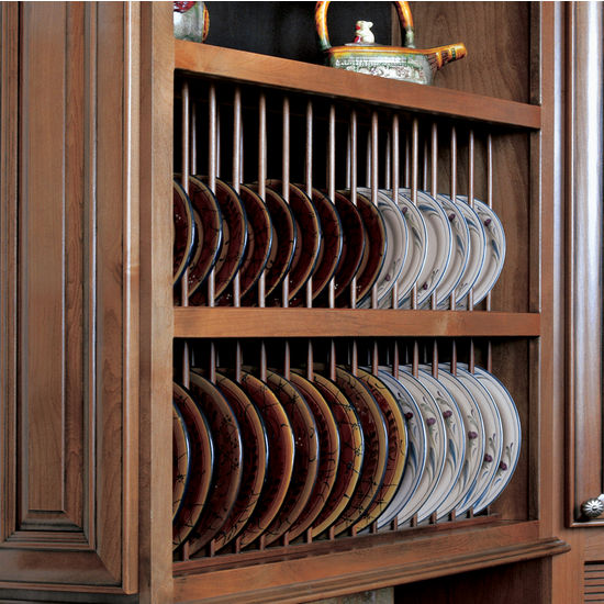 Kitchen Cabinets Plate Rack: Pre-Assembled Plate Display Rack Kit