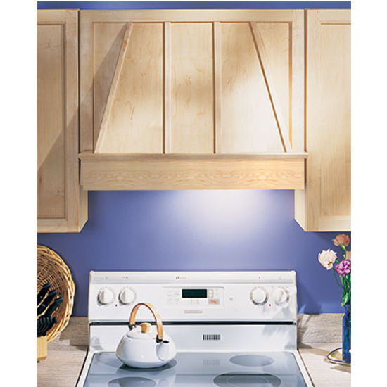 "Wood Range Hoods: 30'' And 36"" Wood Range Hood Front In 6 Wood"