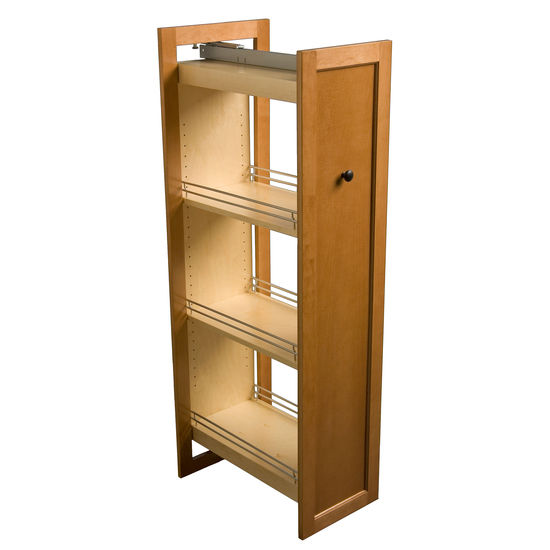 Omega National Tall Pull-Out Wood Kitchen Pantry | KitchenSource.com