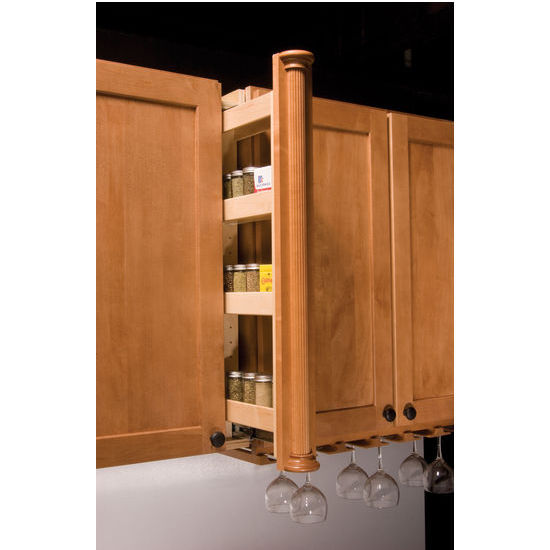 Kitchenmate Upper Wall Cabinet Filler Organizer By Omega National