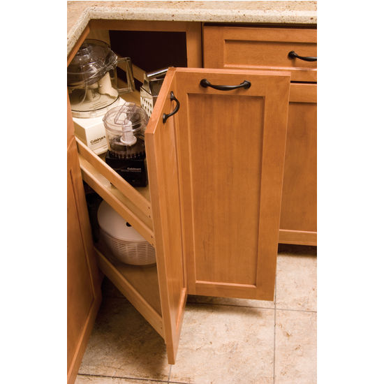 Kitchen Cabinet Pull Out Organizer: KitchenMate™ Pull-Out Corner Cabinet Organizer By Omega