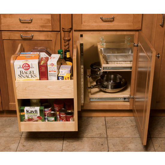 Deep Kitchen Cabinet Solutions: KitchenMate™ Blind Corner Cabinet Organizer By Omega