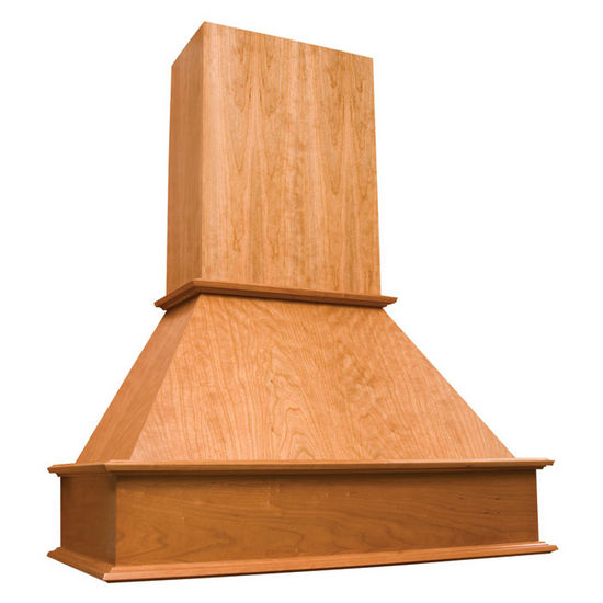 wooden garage shelving ideas - Range Hoods Island Wood Range Hood with Straight Valence