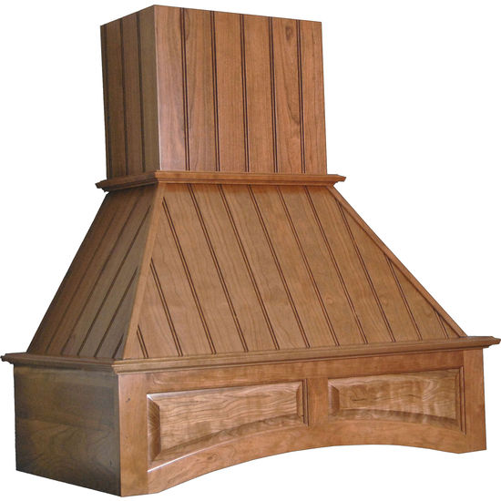 Wood Range Hoods: Nantucket Wooden Range Hood, Arched Valence