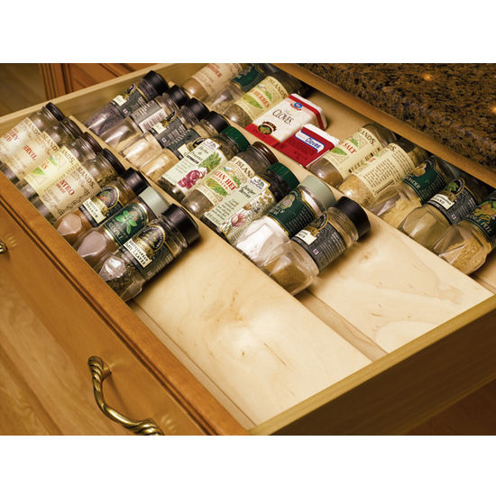 Kitchen Cabinet Spice Rack Organizer: Wood Spice Drawer Insert By Omega National