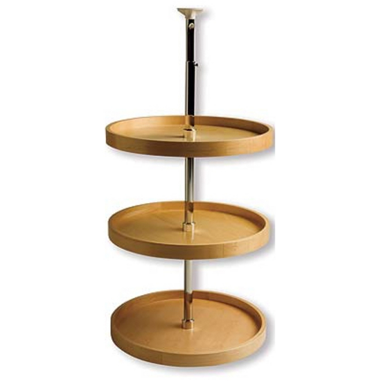 Pole Mounted 3-Shelf Full Round Lazy Susan
