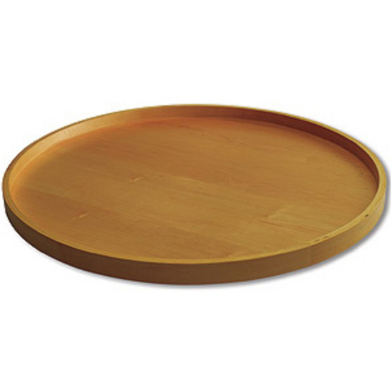 Wood Round Lazy Susan Kits, 1 Pair of Shelves Only, No Holes, No Bearings
