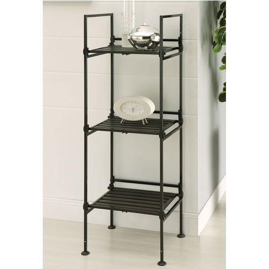 Neu Home Ebonize Collection 3 Tier Square Shelf