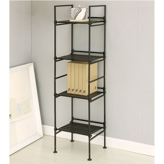 Neu Home Ebonize Collection 4 Tier Square Shelf