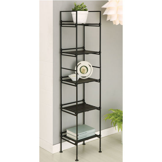 Neu Home Ebonize Collection 5 Tier Square Shelf