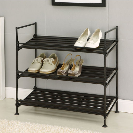 Neu Home Ebonize Collection 3 Tier Shoe Rack