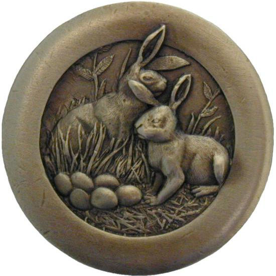 Knob, Rabbits, Country Home Collection, Antique Brass