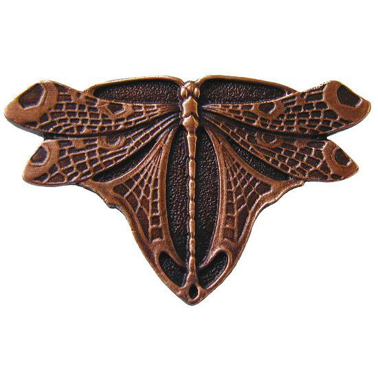 Knob, Dragonfly, Antique Copper