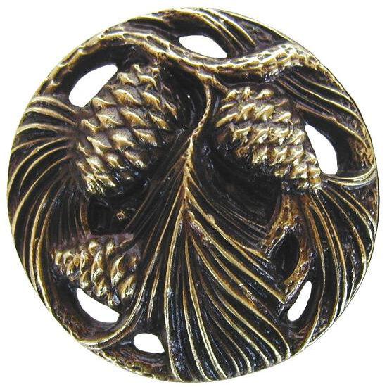 Knob, Cones & Boughs, Antique Brass