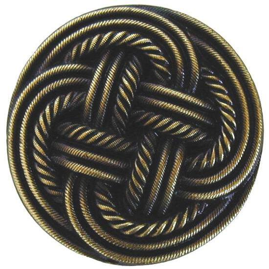 Knob, Classic Weave, Antique Brass