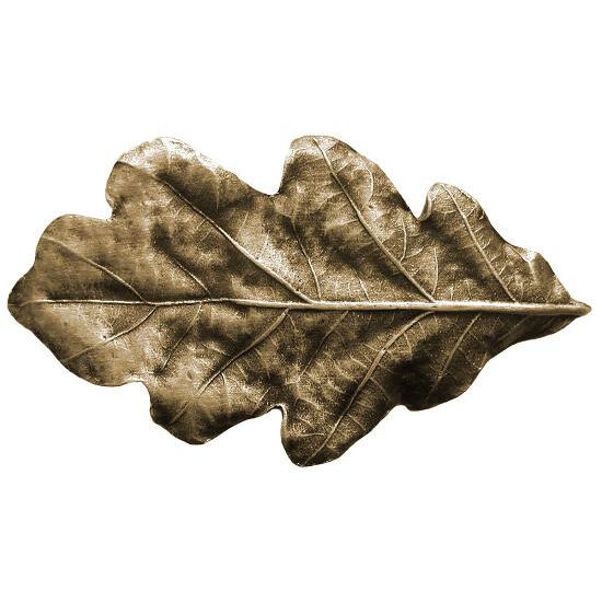 Knob, Oak Leaf, Antique Brass