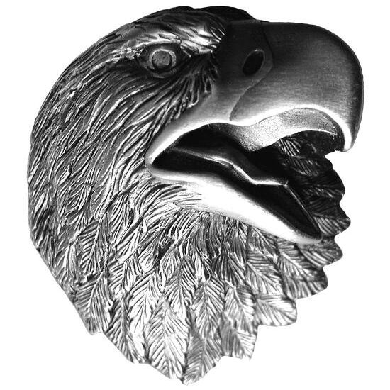 Knob, Proud Eagle, Antique Pewter