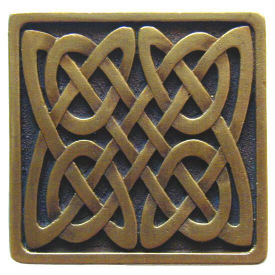 Knob, Celtic Isles, Antique Brass